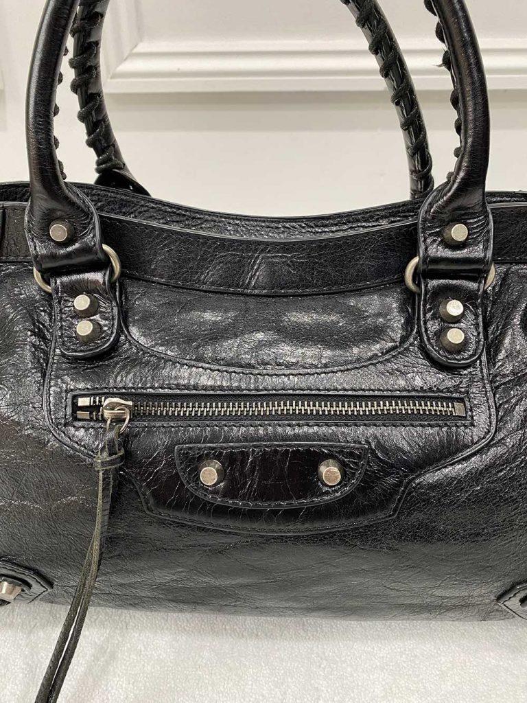 Balenciaga City Crinkle Effect Bag