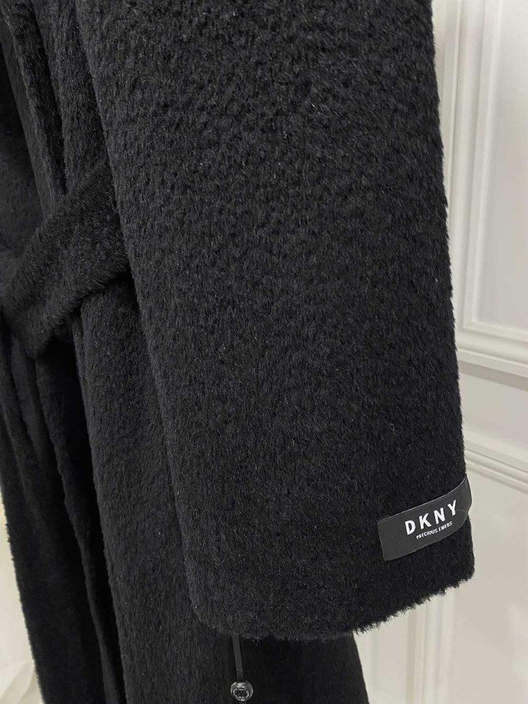 DKNY Black Wool Coat