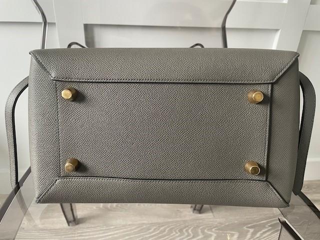 Celine Mini Belt Bag in Grey Grained Calfskin